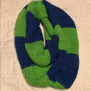Hollister brand green/blue striped infinity scarf